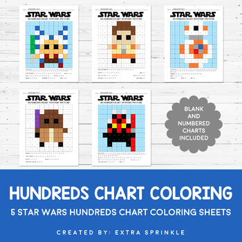 Star Wars Inspired Hundreds Chart Coloring Pages Version 3