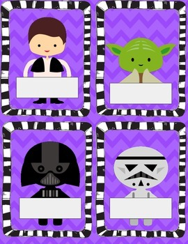 Star Wars Inspired Labels