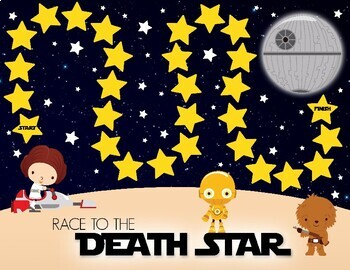 Star Wars Inspired Race to the Death Star Division Board Game
