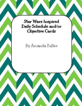 Star Wars Inspired Schedule/Objective Cards