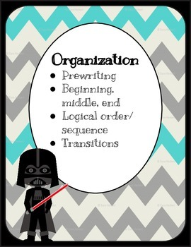 Star Wars Inspired Six Traits of Writing Posters