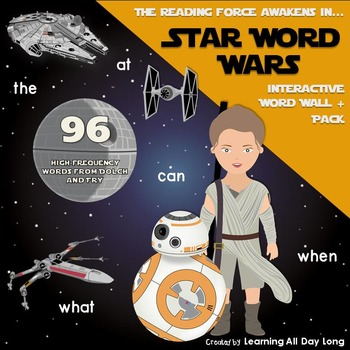 Star Wars Inspired Word Wall: A Word Wall + Pack