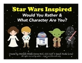 Star Wars Inspired Would You Rather & What Character Are You? {FREEBIE}