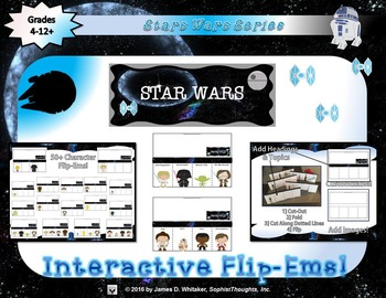 Star Wars Interactive Character Analysis Flip-Ems