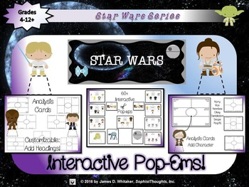 Star Wars Interactive Character Analysis Pop-Ems