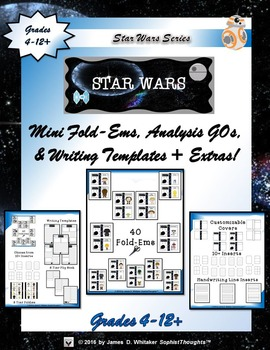 Star Wars Interactive Mini Character Analysis Fold-Ems and Activities