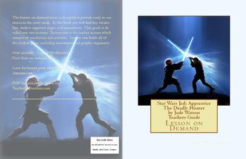 Star Wars Jedi Apprentice The Deadly Hunter by Jude Watson Teachers Guide