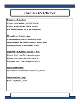 Star Wars Jedi Apprentice The Hidden Path Novel Unit and Lesson Guide
