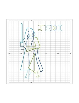 Star Wars Jedi Coordinate Graphing Activity and Graph Paper