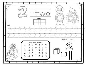 Star Wars Math Packet For Kindergarten