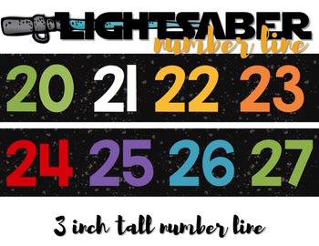Star Wars LIGHTSABER NUMBER LINE Count 'n Grow {Black Galaxy}
