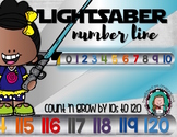 Star Wars LIGHTSABER NUMBER LINE Count 'n Grow {Silver}