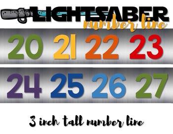Star Wars LIGHTSABER NUMBER LINE Count 'n Grow {Silver}