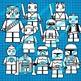 Star Wars Lego Inspired Clip Art