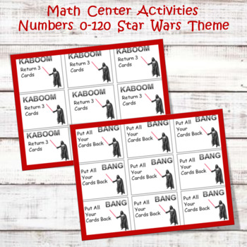 Math Center Cards for GAMES  0 - 120 Star Wars