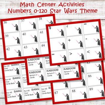 Math Center Cards 0 - 120 Star Wars