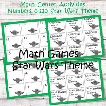 Math Center Game  0-120  Star Wars