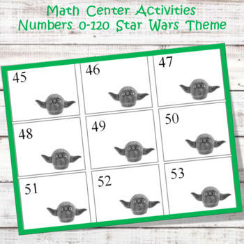 Math Center Game  0-120  Star Wars