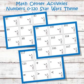 Math Center Activities  0-120 Star Wars