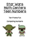 Star Wars Math Center - Teen Numbers - Ten Frame & Compari