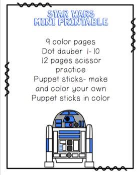 Star Wars Mini Printable