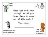 Star Wars Motivational Testing Card