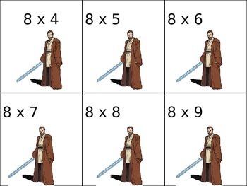 Star Wars Multiplication Cards