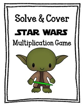 Star Wars Multiplication - Solve & Cover - Differentiated