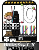 Space Hero NUMBER SENSE ANCHOR CHARTS 0-20 {Correct Number Formation}