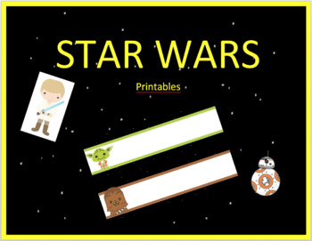 Star Wars Name Plates
