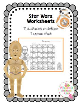 Star Wars Number Worksheets