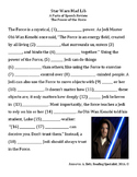 Star Wars Parts of Speech Activity