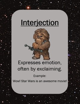Star Wars Parts of Speech Posters