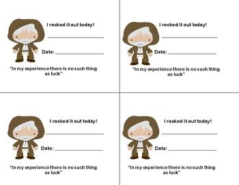 Star Wars Positive Reinforcement Cards