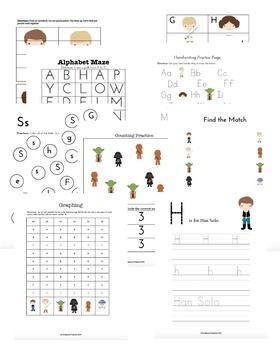 Star Wars Preschool Learning Pack