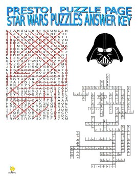 Star Wars Puzzle Page (Wordsearch and Criss-Cross)