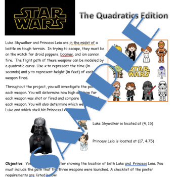Star Wars Quadratics Project