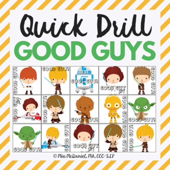 Quick Drill Good Guys {for speech therapy or any skill drill}