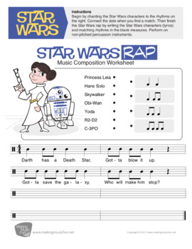 Star Wars Rap | Music Composition Lesson Plan (Digital Print)