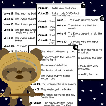 Star Wars Reader's Theater: Ewoks Join The Fight! Reading Comprehension