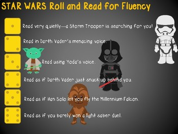 Star Wars Roll and Read for Fluency