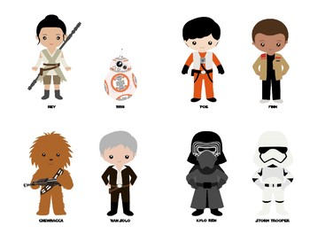 Star Wars STEAM / STEM Challenge Task Cards w/ Writing Task Sheets & Characters