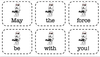 Star Wars Sentence Scramble Grammar Syntax (20 Sentences, 2 Worksheets)