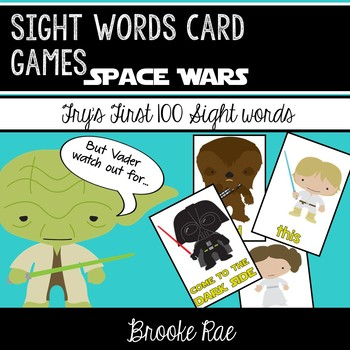 Space Wars Attack: Star Wars Inspired Sight Words Game