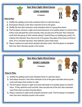 Star Wars Spelling Game