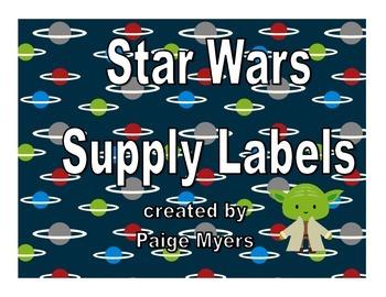 Star Wars Supply Labels