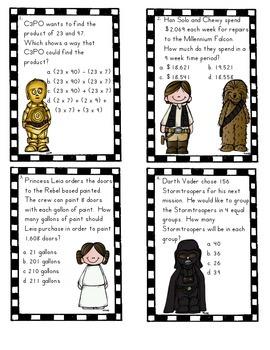 Star Wars Task Cards Grade 4