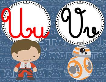 Star Wars The Force Awakens Cursive Alphabet