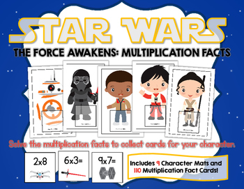 Star Wars The Force Awakens:  Multiplication Facts