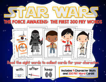 Star Wars The Force Awakens:  The First 300 Fry Words Game